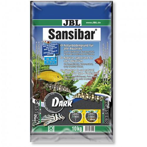 Чорний донний грунт JBL Sansibar Dark для прісноводних і морських акваріумів, 10 кг