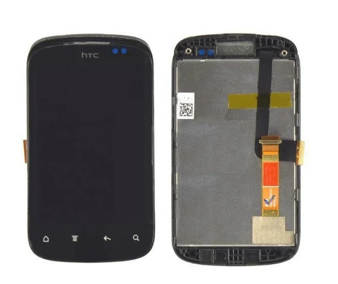 Дисплей для телефона HTC A310e Explorer с сенсорным стеклом в рамке (Черный) Оригинал Китай