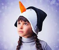 """Карнавальная шапка-маска """"Снеговик"""""""