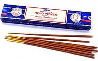 Благовоние палочки пыльцовые Сила Рейки Nag Champa Reiki Power 15 гр Satya