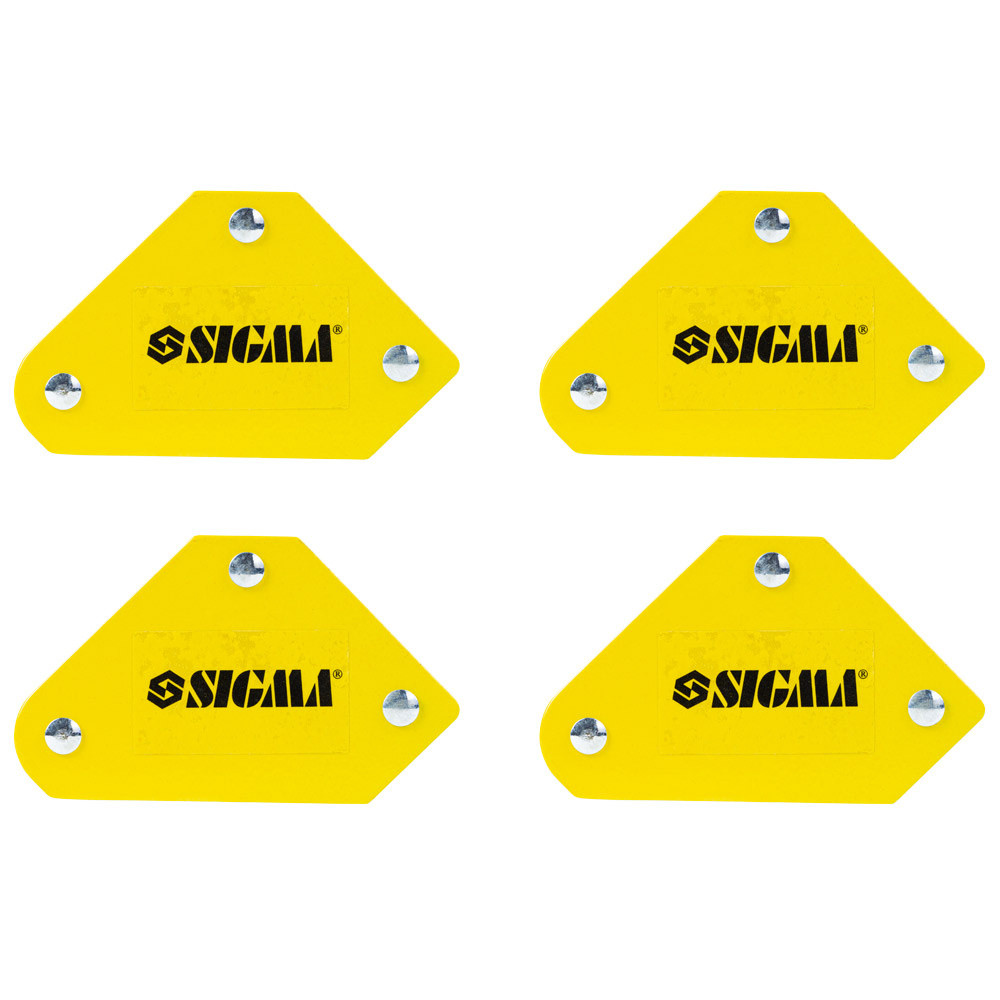 Набір власників магнітних міні 4кг 52×20×40×16×38мм (45,90,135°) 4шт SIGMA (4270251)