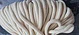 Шнур хлопковый с сердечником 8мм/100м Айвори, фото 2
