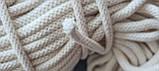 Шнур хлопковый с сердечником 8мм/100м Айвори, фото 3