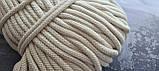 Шнур хлопковый с сердечником 8мм/100м Айвори, фото 4