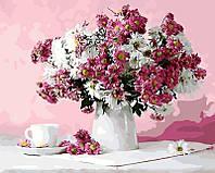 Картина рисование по номерам Натюрморт в розовых тонах GX8746 40х50см роспись по цифрам набор для рисования,
