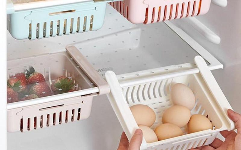 Полку складна в холодильник. Оганайзер в холодильник. Поличка для овочів.