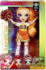 Rainbow High Cheer Poppy Rowan - Рейнбок Хай Cheer Orange Оранжевая Черлидер Поппи