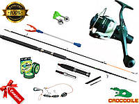 Рыболовные наборы и комплекты для рыбалки, Crocodile, Удочки и спиннинги, Готовые наборы для рыбалки, катушка!