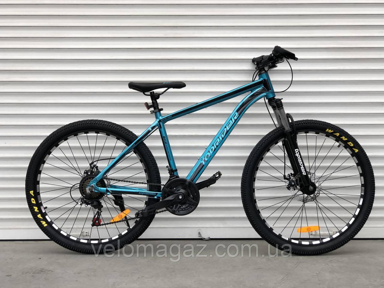"""Велосипед алюмінієвий гірський TopRider-680 26"""" Синій"""