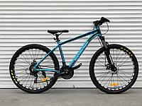 """Велосипед алюмінієвий гірський TopRider-680 26"""" Синій, фото 1"""