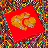 Подарочный набор круглых восковых чайных свечей 15г (9шт.) в коробке Синий Снег, фото 5