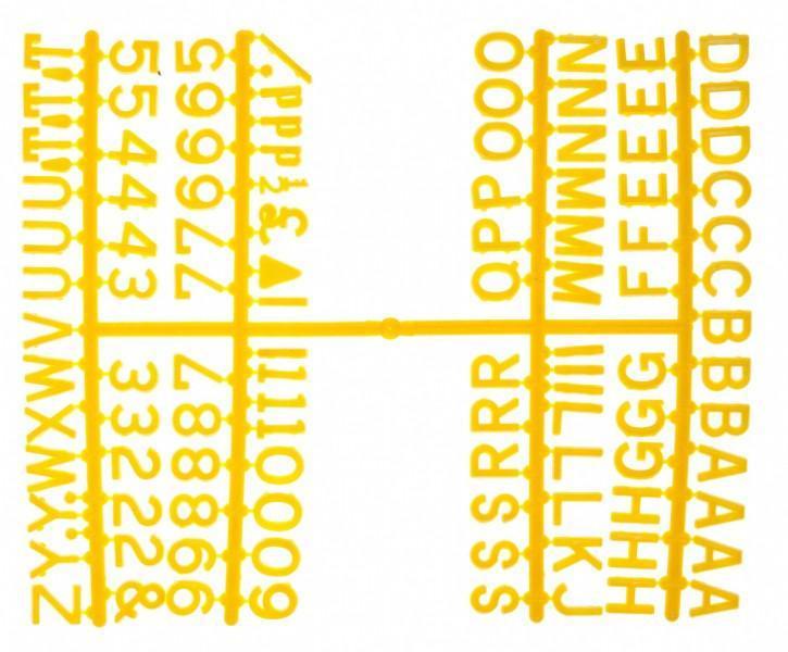 Набор символов для доски меню Beaumont 1/4 дюйма, 390 символов (3863Y)