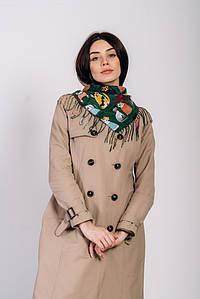 Платок FAMO Шейла зеленый 101*101 (B-2006-N) #L/A