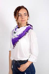 Хустка FAMO -косинка Селія фіолетовий (S340) 135*65 #L/A