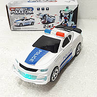 Полиция Машинка - Трансформер ездит и крутится как автошка, светится с музыкой