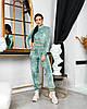 Женский велюровый костюм штаны и укороченный топ
