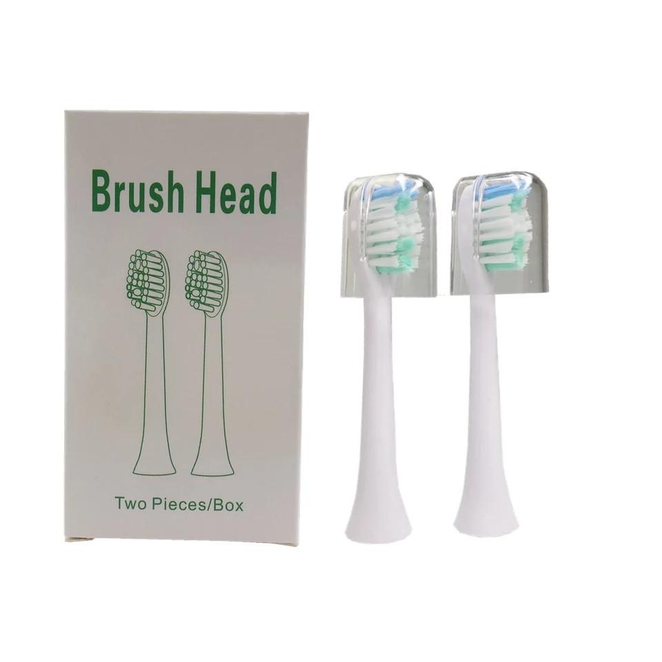 Змінні насадки для зубної щітки Digoo. Компелект 2шт. Білі