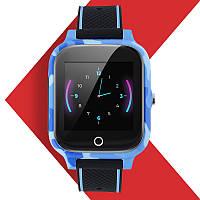Детские Smart Baby Watch JETIX T-Watch с GPS трекером и датчиком измерения температуры тела (Blue)