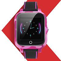 Детские Smart Baby Watch JETIX T-Watch с GPS трекером и датчиком измерения температуры тела (Pink)
