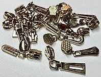 Набор бегунков для молнии СПИРАЛЬ тип-7 золото
