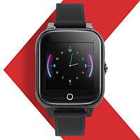 Детские Smart Baby Watch JETIX T-Watch с GPS трекером и датчиком измерения температуры тела (Black)