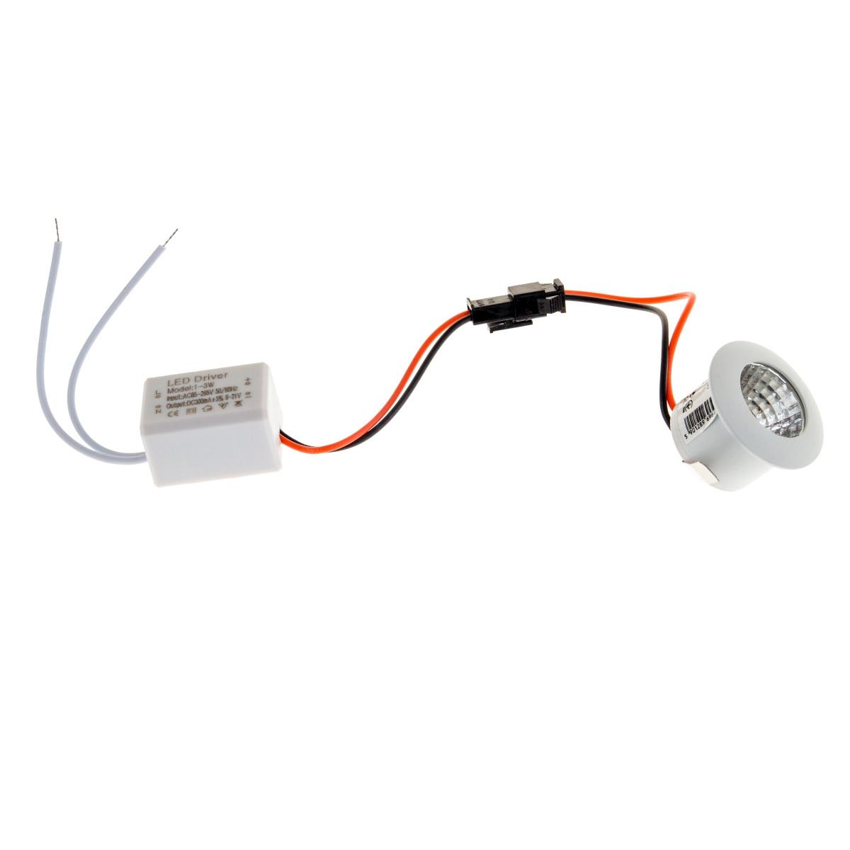 Светильник точечный LED-187/1W NW WH