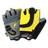 Велорукавички PowerPlay 5037 C XL Чорно-жовті (5037C_XL_Yellow), фото 4