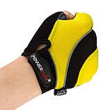 Велорукавички PowerPlay 5037 C XL Чорно-жовті (5037C_XL_Yellow), фото 5