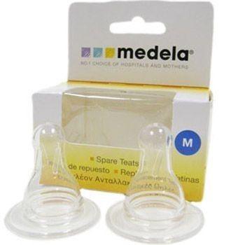 Запасные соски для бутылочек Medela (размер М -2шт в упаковке)