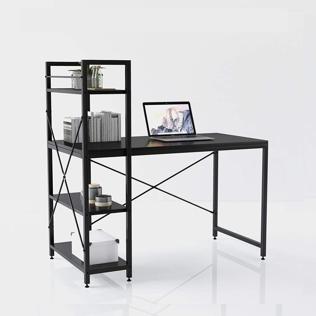 Комп'ютерний стіл VALENCY в стилі Loft Стіл для комп'ютера письмовий з полицею Лофт