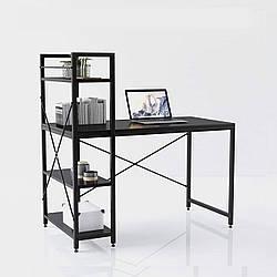 Компьютерный стол  STEP в стиле Loft Стол  для компьютера письменный с полками Лофт