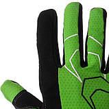 Велорукавички PowerPlay 6556 А S Зелені (6556A_S_Green), фото 4