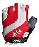 Велорукавички PowerPlay 5034 A XS Біло-червоні (5034A_XS_Red), фото 2