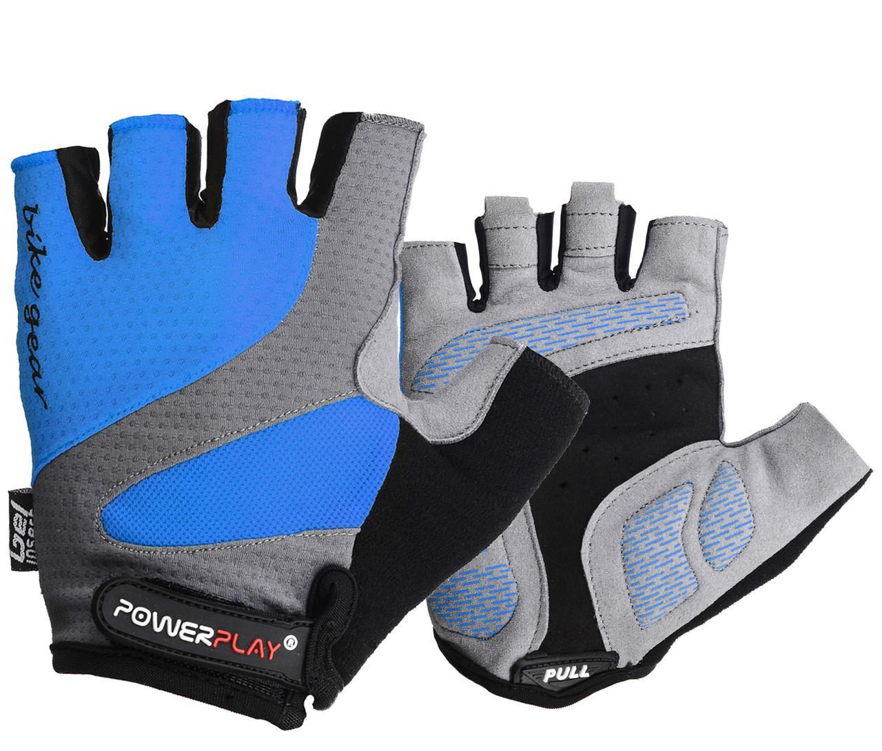 Велорукавички PowerPlay 5004 S Сині (5004_S_Blue)