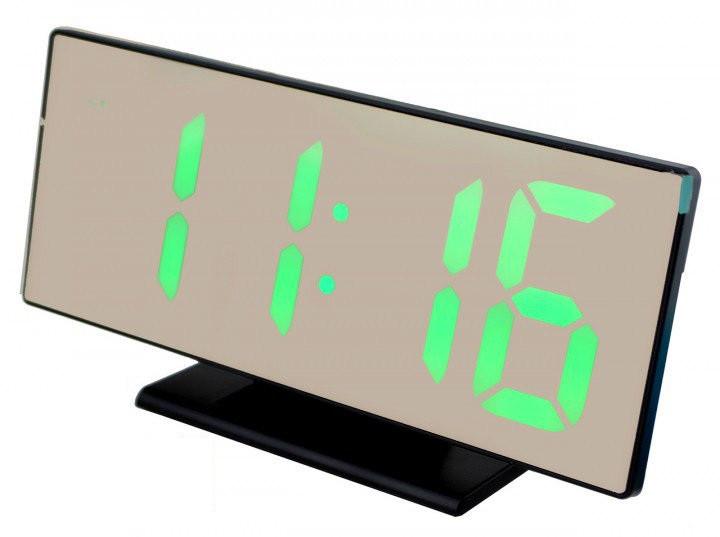 Настольные зеркальные часы UKC DS-3618L с подсветкой Black (3618L-B)