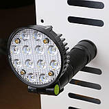 Світлодіодний ліхтар акумуляторний на магніті 12 LED 3 режими + RGB BLX3, фото 5