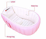 Надувна ванночка Intime Baby Bath Tub ART-3612 Рожева (300430), фото 2