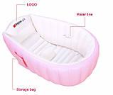 Надувная ванночка Intime Baby Bath Tub ART-3612 Розовая (300430), фото 2