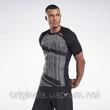 Мужская компрессионная футболка Reebok Printed Compression Top GJ6376 2021