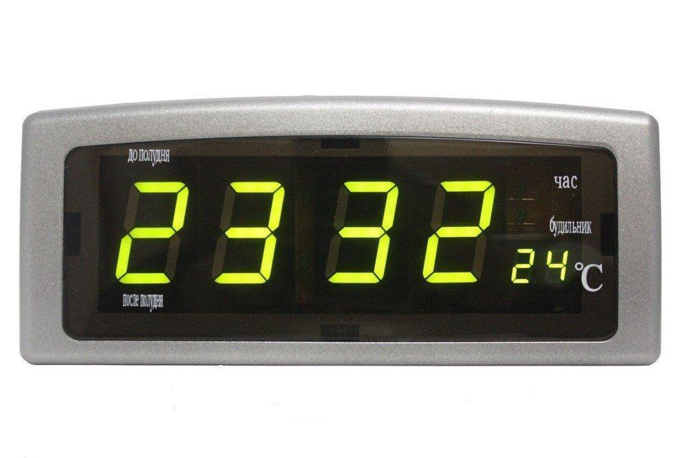 Настольные электронные часы Caixing CX-818 Серебристый