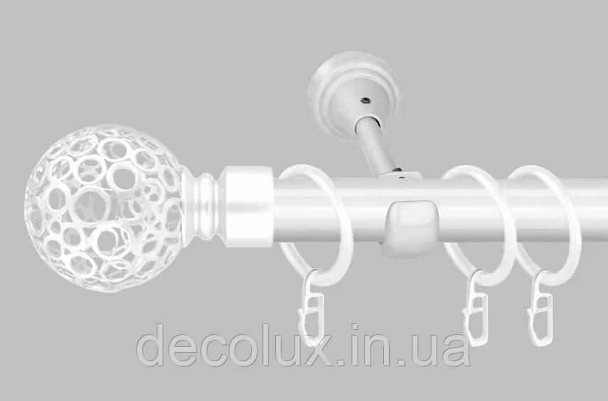 Карниз для штор однорядний металевий 25 мм, Савона