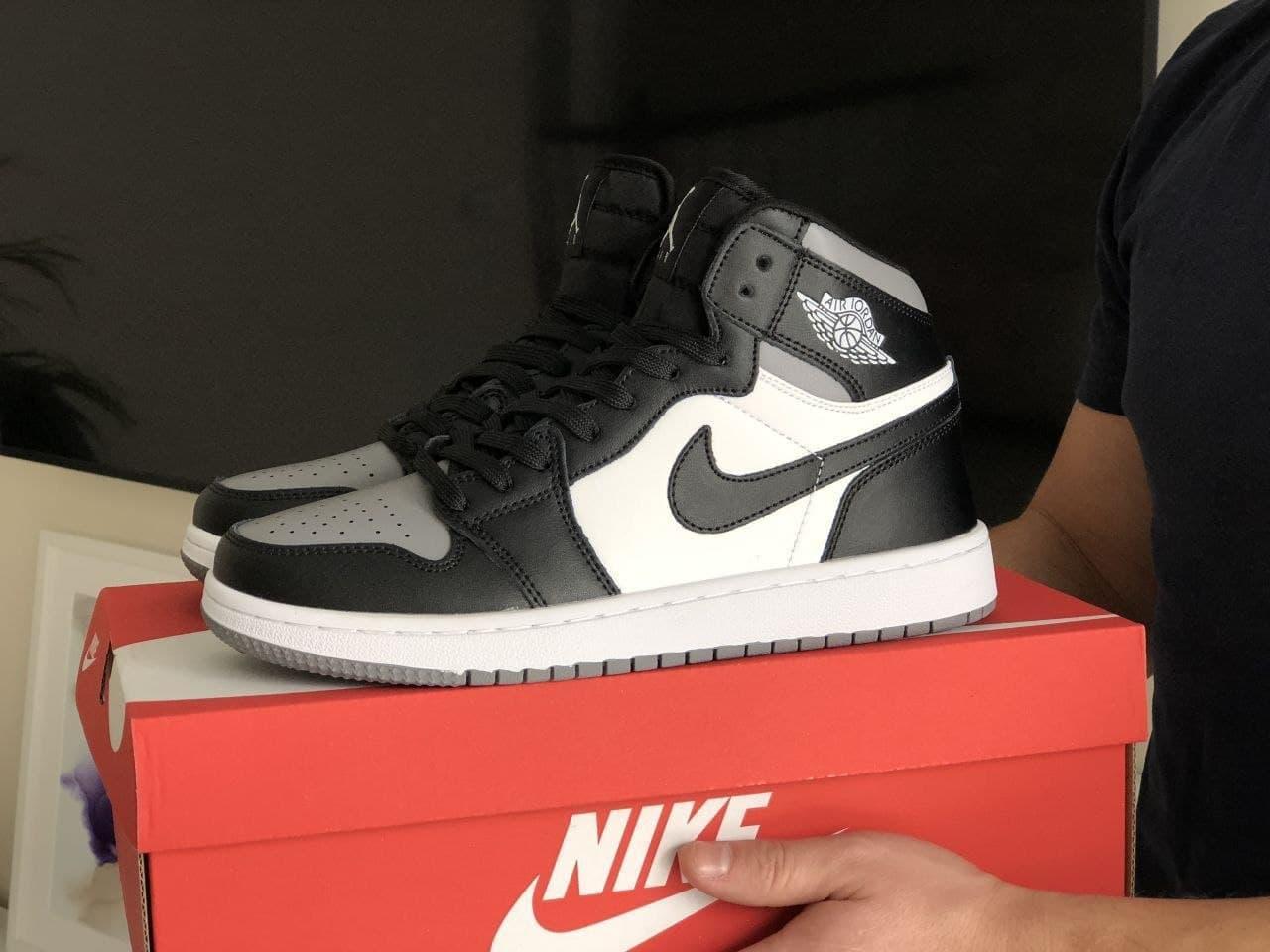 Кроссовки  в стиле N1k Air Jordan черные | белые 41, 42, 43, 44, 45, 46