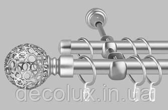 Карниз для штор дворядний металевий 25 мм, Савона