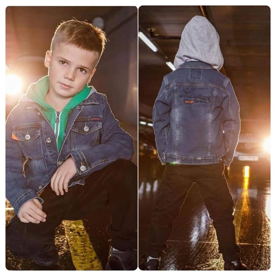 Стильные джинсовые куртки для мальчика DENIM STYLE! BLUE!  116-146 рост.