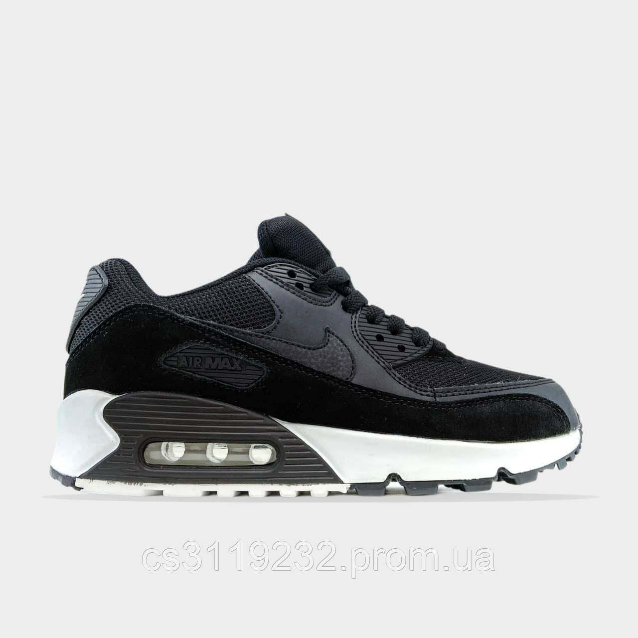 Женские кроссовки 90 Black White (белый)