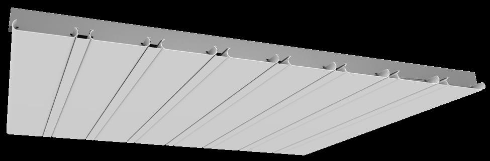 Рейкова алюмінієва стеля Allux білий матовий комплект 200 см х 350 см