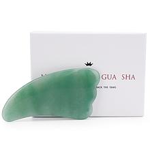 """Скребок лапка гуаша """"Natural Jade Gua Sha"""" из натурального нефрита (в коробке)"""