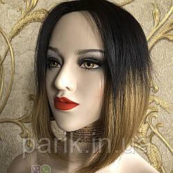 💎Парик женский каре без чёлки омбре, из натуральных волос💎