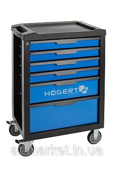 Тележка (тумба) инструментальная, 6 ящиков HOEGERT HT7G045