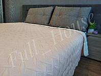 Покрывало пудровое 240*220 см евро на кровать и диван + 2 наволочки 50*70 см Vintage